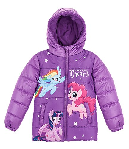 My little pony 164710, giacca bambina, viola pourpre, 4 anni