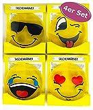 4er Set Taschenwärmer Emoji - Wichtelgeschenk - Handwärmer - Taschenheizkissen