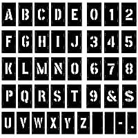 مجموعة حروف وأرقام بلاستيكية متشابكة 10.16 سم، من أتيزستور، 138 قطعة، لون أسود