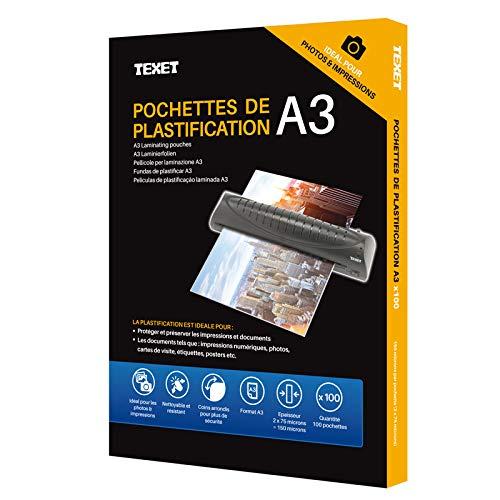 2 x 80 micron Hassos 160 micron Custodie lucide in formato A4 per plastificatrici confezione da 100