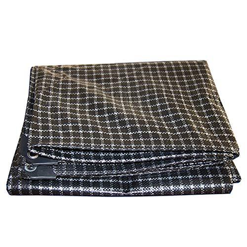 Bâches, Imperméable avec Oeillets ,Tresse À Carreaux Noir Et Blanc en Polyéthylène Résistant Aux Déchirures - 160g / (Taille : 3×4m)