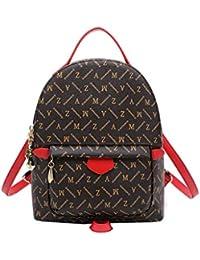 53edb306655fe XIYING Backpack Elegant Floral Print Trendy Daypacks Klein Mädchen Rucksack  Lässig Wasserdicht Leder Schulranzen Shopper Kawaii…