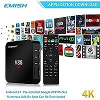 4K Android Tv Box, 1080P Di Smart Multimedia Player, Internet Streaming Media Player Rockchip 3229 Quad Core Emmc 8Gb, Giocatore Del Gioco Completamente Sbloccato, Può Guardare Qualsiasi Cosa, Nero