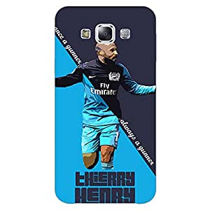 Jugaaduu Arsenal Therry Henry Back Cover Case For Samsung Galaxy E7