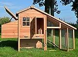 Zooprimus  Poulailler en bois pour jardin extérieure 2/5 poules  cage canard 2 perches Modèle Confort 190x62x114 cm