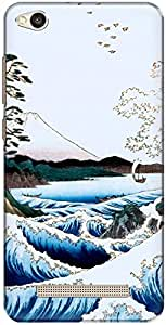 The Racoon Grip printed designer hard back mobile phone case cover for Xiaomi Redmi 4A. (The Sea at)