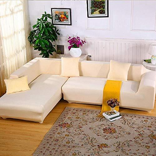 CCMOO Elastic Couch Sofa Cover Loveseat Cover Sofabezüge für Wohnzimmer Sofagarnitur Schonbezug Sesselbezug, Beige, Dreisitzer, Vereinigte Staaten -