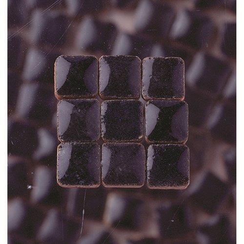MosaicMicros 5 x 5 x 3 mm 10 g 100-Piece Ceramic Glazed Mini Mosaic Tiles, Night Blue