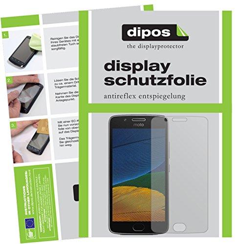 dipos I 2X Schutzfolie matt passend für Motorola Moto G5 Plus Folie Bildschirmschutzfolie