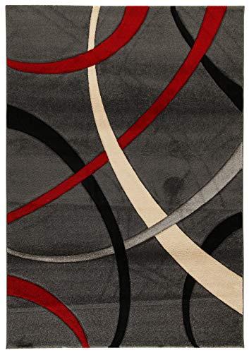 Abc, terra, tappeto, rosso (grigio scuro/rosso), 80 x 150 cm