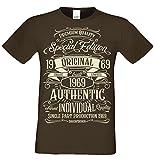 Special Edition 1969 -:- Geschenk-Set T-Shirt + Urkunde 50. Geburtstag -:- Geburtstagsgeschenk für Männer 50-Jahre in: braun Gr: XXL