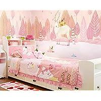 Ruixi madera de venado de ensueño de papel tapiz mural cálido dormitorio rosado niña habitación de