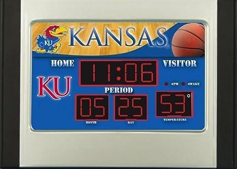 Kansas Jayhawks Scoreboard Desk Clock by Team Sports America