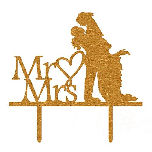 Braut-silhouette (Floridivy Acryl Herr Frau Sign-Braut-Bräutigam-Herz-Silhouette-Hochzeits-Kuchen-Deckel-Dekoration)