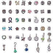 bb0a9269b0c9 NBEADS Esmalte para Collar con Colgante de aleación de Diamantes de  imitación Spacer Beads Charms Pulseras