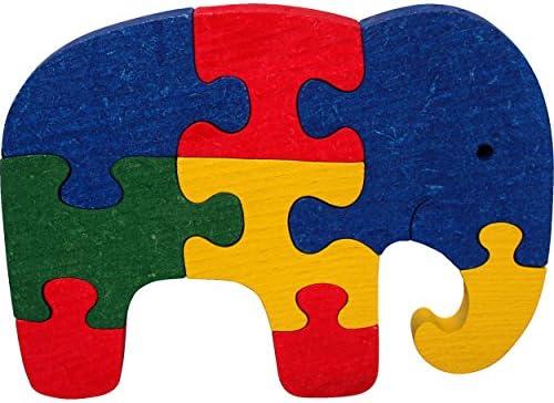 Puzzle enfant éléphant – Puzzle en bois (Hêtre Alpes) – Puzzles 3D évolutifs et économiques : Pour augHommes ter la difficulté mélanger plusieurs modèles de puzzles Musikid – Couleur