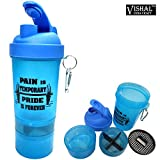 #10: VISHAL INDIA MART SMART SHAKER WATER BOTTLE, BPA FREE SHAKER BOTTLE 500 ML, ALL IN ONE SHAKER BOTTLE ( COLOR MAY VARY )