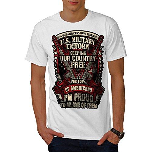 Wellcoda USA Militär Armee Amerika Männer 3XL T-Shirt (Militär-grafische T-stücke)