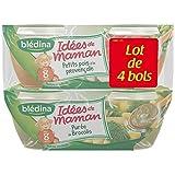 Bledina idées de maman purée brocolis/petits pois dès 8 mois 4x200g - ( Prix Unitaire ) - Envoi Rapide Et Soignée