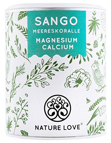 NATURE LOVE® Sango Meereskoralle - 250g Pulver. Natürliche Quelle für Kalzium (20%) und Magnesium (10%) im körpereigenen Verhältnis von 2:1. Hochdosiert und hergestellt in Deutschland - Natürliche Kalzium