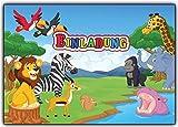 wilde Tiere Einladungskarten Kindergeburtstag Einladungen wildetiere Zoo Safari (8 Stück) Jungen Mäden Safari Einladung Jungs Karten Kinder Dschungel