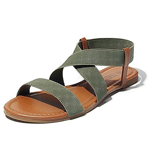 Sandalup Elastic, Women's Sandals - Green, 6 UK