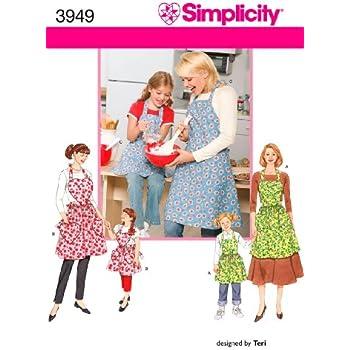 Simplicity Sewing Pattern 8230 MISSES/'S Reversibile Grembiule Dress /& Tabard
