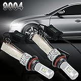 UNI 2x 9004 HB1 Hi/Lo LED Faro Bombillas Alquiler de luces LED 80W 8000LM 6500K LED lámpara con la viruta del COB para el coche vehículo + CANBUS