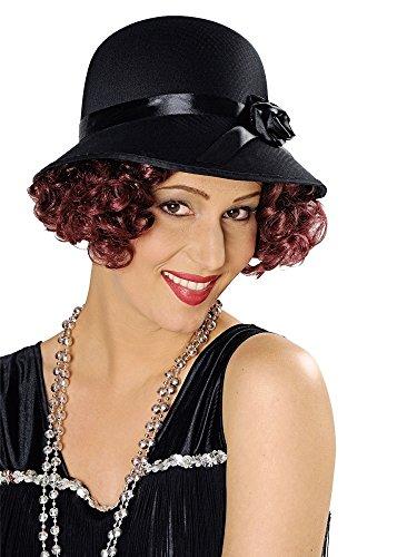 Charleston Hut für Damen - Schwarz - Zum 20er 30er Jahre Kostüm