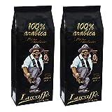 Lucaffé Mr. Exclusive 100% Arabica Ganze Bohne, 1000 g, 2er Pack (2 x 1 kg)