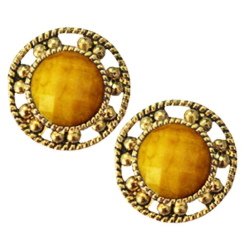 Beingwomen Round Shape Stone Studded Alloy Stud earring  available at amazon for Rs.70