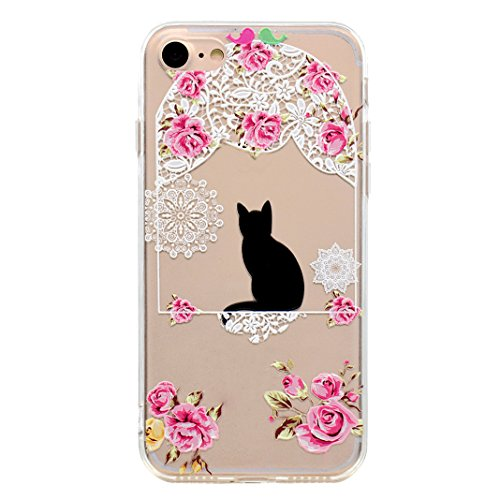 "Coque iPhone 6 Silicone Housse,Etui iPhone 6S Gel Transparente Case Cover Rosa Schleife® 4.7"" Apple iPhone 6 TPU Silicone Gel Souple Case Coque de Protection Portable Smartphone pochette Transparente  55-style"