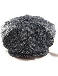 326d33669c8 Harris Tweed Men s 8-Piece Newsboy Baker Boy Pre-Shaped Cap