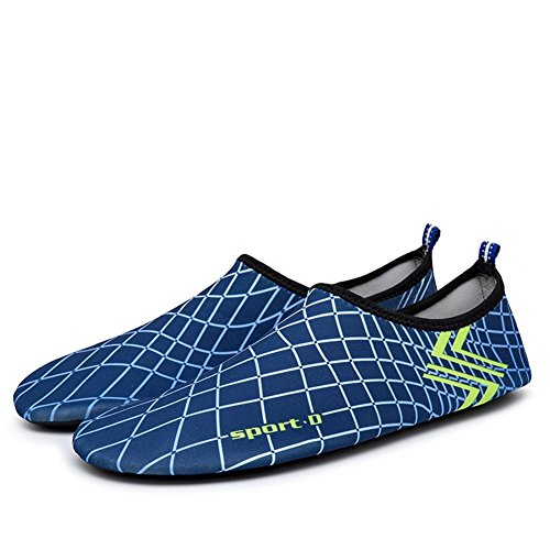 Eagsouni® Barfußschuhe Aquaschuhe Schwimmschuh Badeschuhe Strandschuhe Wasserschuhe Surfschuhe Wanderschuhe für Damen Herren Blau
