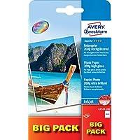 Avery C2549-100 Cartoncini Lucidi per Fotografie, 200G,