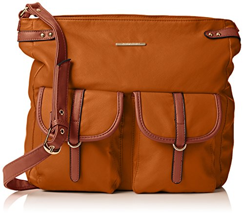 Swankyswans Gigi School Bag PU Leather, Damen Umhängetasche Braun Braun (Hellbraun) (Zara City Bag)