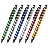 WPRO Metall-Kugelschreiber Bellezza 6-er Set | Tintenroller Kulli Stift | Kugelschreibermine Blau, 6 Stück im Farbmix