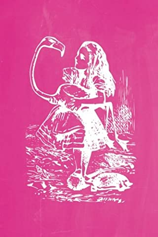 Alice in Wonderland Pastel Chalkboard Journal - Alice and The Flamingo (Pink): 100 page 6