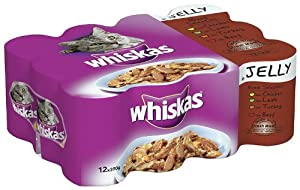 Whiskas Can Jelly Selection 12 x 390g (Pack of 2)