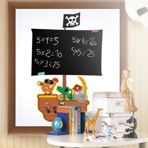 pirate-blackboard-adesivo-da-parete-con-motivo-pirati-decalcomania-66-x-44-cm-per-bambini-colori-mis