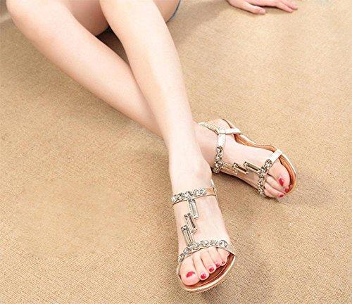 sandales été pente de diamant avec des sandales à bout ouvert dérapage sauvage Gold
