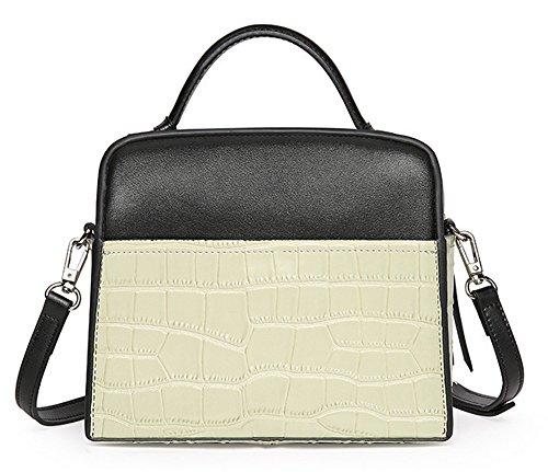 Xinmaoyuan borse Donna Summer donna borsa in pelle alla moda in pelle di pietra borsetta Bump colore spalla singolo croce obliqua sacchetto signora sacchetto,kaki Verde chiaro