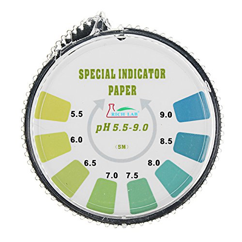 DyNamic Präzision Ph Teststreifen Rollen Short Range 5.5-9.0 Indicator Paper Tester Dispenser Color Chart 5M/16,4 Ft