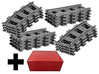 8x Gerade Schienen + 8x Gebogene Kurvenschienen Gleise - Lego Gerade Schienen und Gebogene Gleise, City ferngesteuerter Zug, für Lego City Eisenbahn (B00PHV83XI) | Amazon price tracker / tracking, Amazon price history charts, Amazon price watches, Amazon price drop alerts