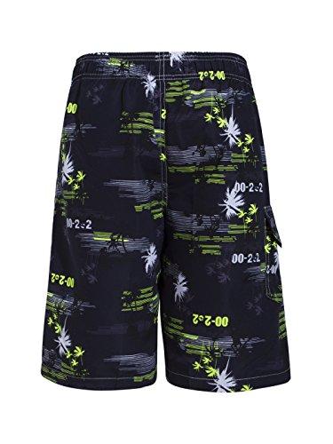 Asvert Strand Shorts Stämme Muster Schwimmen der Männer schnell trocknende Druck Palm Beach Badeshorts Grün
