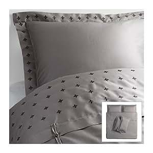 IKEA VINRANKA - Housse de couette et taies d'oreiller 4, gris - 240x220 / 50x80 cm