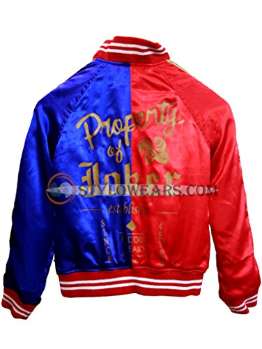 stylowears Harley Quinn Giacca-Giacca Margot Robbie Sucide Squad-Costume da Halloween Red & Blue Large