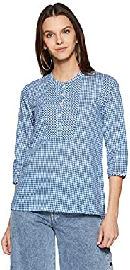 Styleville.in Women's Checkered Regular Fit S