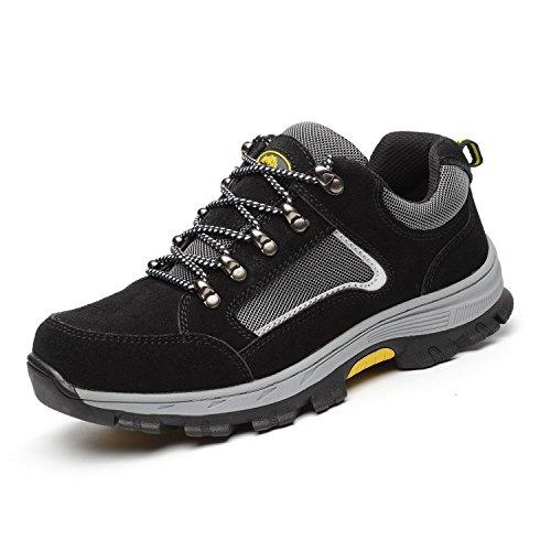 ZOEASHLEY Damen Herren Arbeitsschuhe mit Stahlkappe S3 Sicherheitsschuhe Leicht Atmungsaktiv Sneaker Gr.35-46
