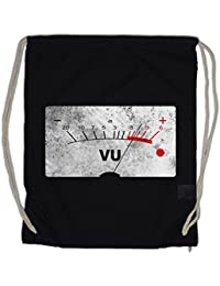 VU VOLUME UNITS METER II Drawstring Bag Velvet Decibel Music Bass Retro Radio Cassette Tape Record Vinyl Stereo Music Musik